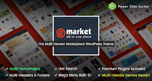 eMarket is a modern and multi-functional eCommerce theme