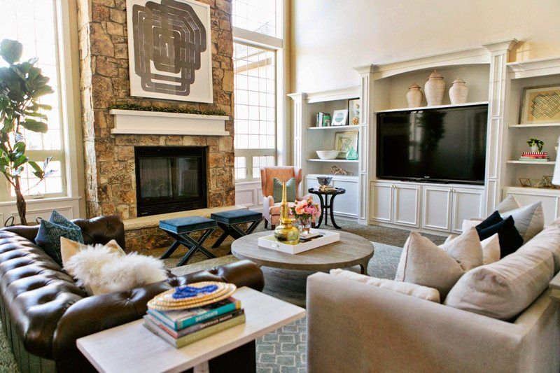Small Living Room Layout With Fireplace and TV on ... on Small Space Small Living Room With Fireplace  id=76493