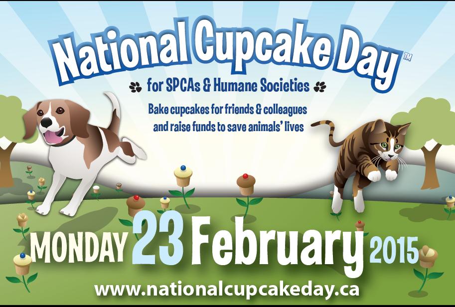 National Cupcake Day,  23 February 2015, SPCAs & Humane Societies