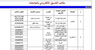 رقم تليفون مكتب التنسيق بالقاهرة الرئيسي الخط الساخن 2021