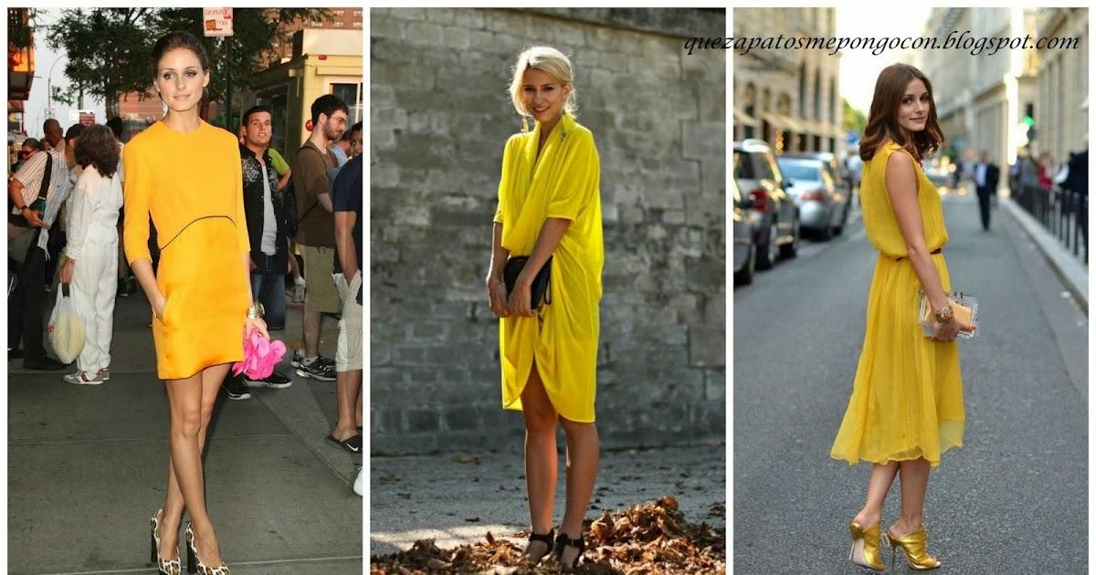 Que zapatos me pongo con vestido amarillo