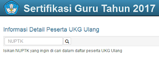info jadwal UTN ulang 2 II PLPG