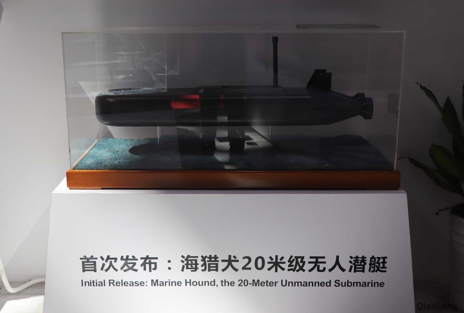 """O """"Marine Hound"""" de 20 metros, uma plataforma XLUUV com certas semelhanças de projeto com o grande UUV"""
