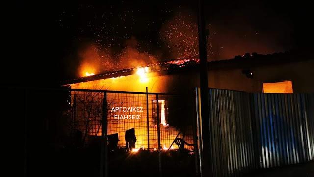 Πυρκαγιά σε παλιά οικία στη Δαλαμανάρα Αργολίδας