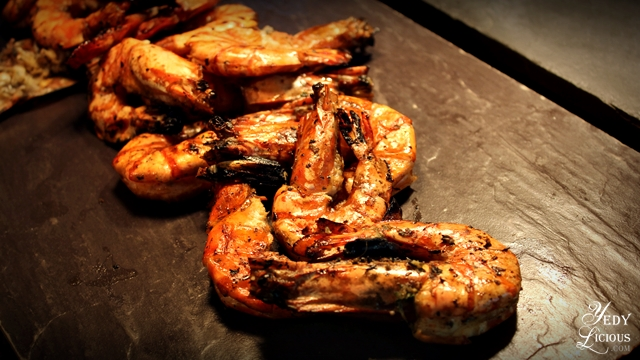 Grilled Shrimp Buffet at Spectrum Fairmont Hotel Makati Manila PH