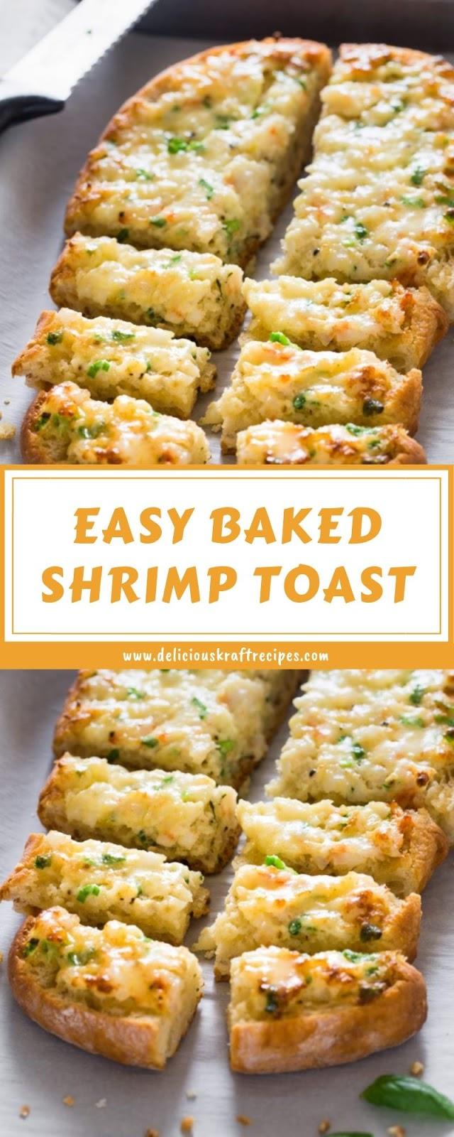 EASY BAKED SHRIMP TOAST