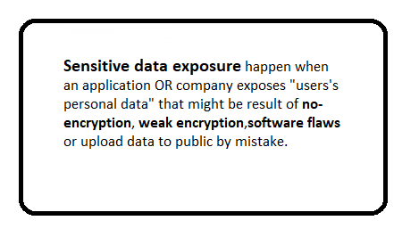 What is sensitive data exposure