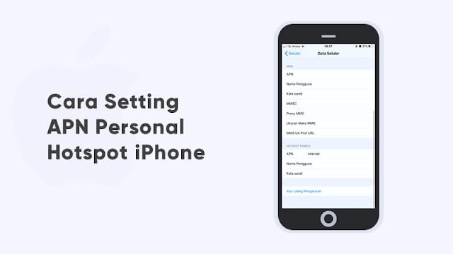 cara setting apn personal hotspot iphone