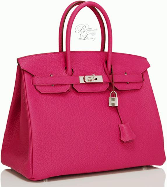 Brilliant Luxury ♦ Hermès Purple Tosca Fjord Birkin B
