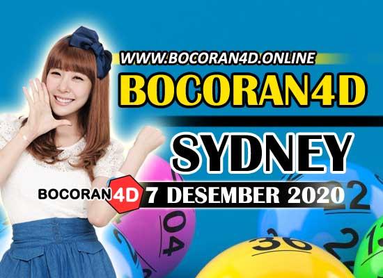Bocoran Togel 4D Sydney 7 Desember 2020