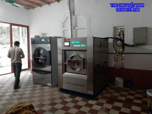 Máy giặt sấy công nghiệp cho công ty khai thác than