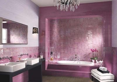 purple color bathroom