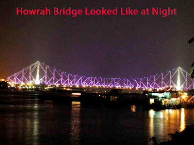 Howrah Bridge looked like at Night