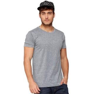 áo thun cổ tròn màu xám
