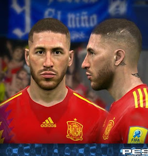 PES 2017 Faces Sergio Ramos by FaceEditor Jefferson_SF