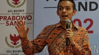 Juru Bicara Badan Pemenangan Nasional pasangan Prabowo Subianto-Sandiaga Uno, Gamal Albinsaid, saat ditemui di media center BPN Prabowo-Sandiaga, Jalan Sriwijaya, Jakarta Selatan, Rabu (10/10/2018)