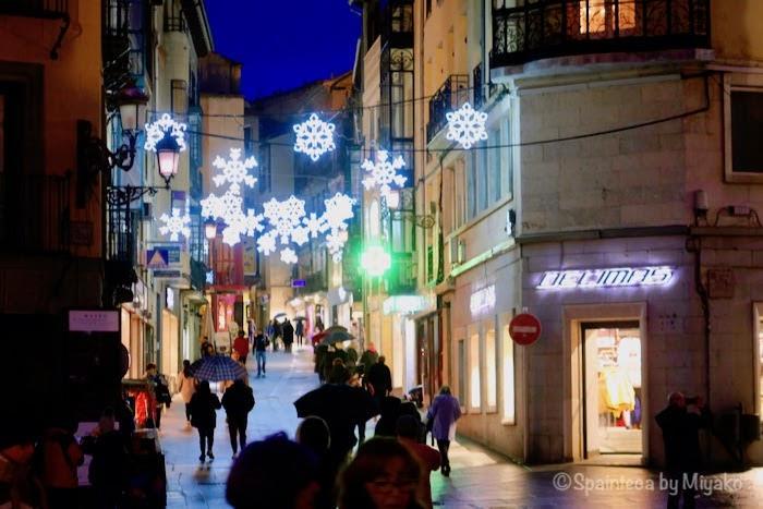 Segovia 世界遺産セゴビアの旧市街のクリスマス