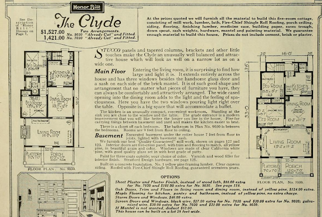 Floorplan of Sears Clyde bungalow