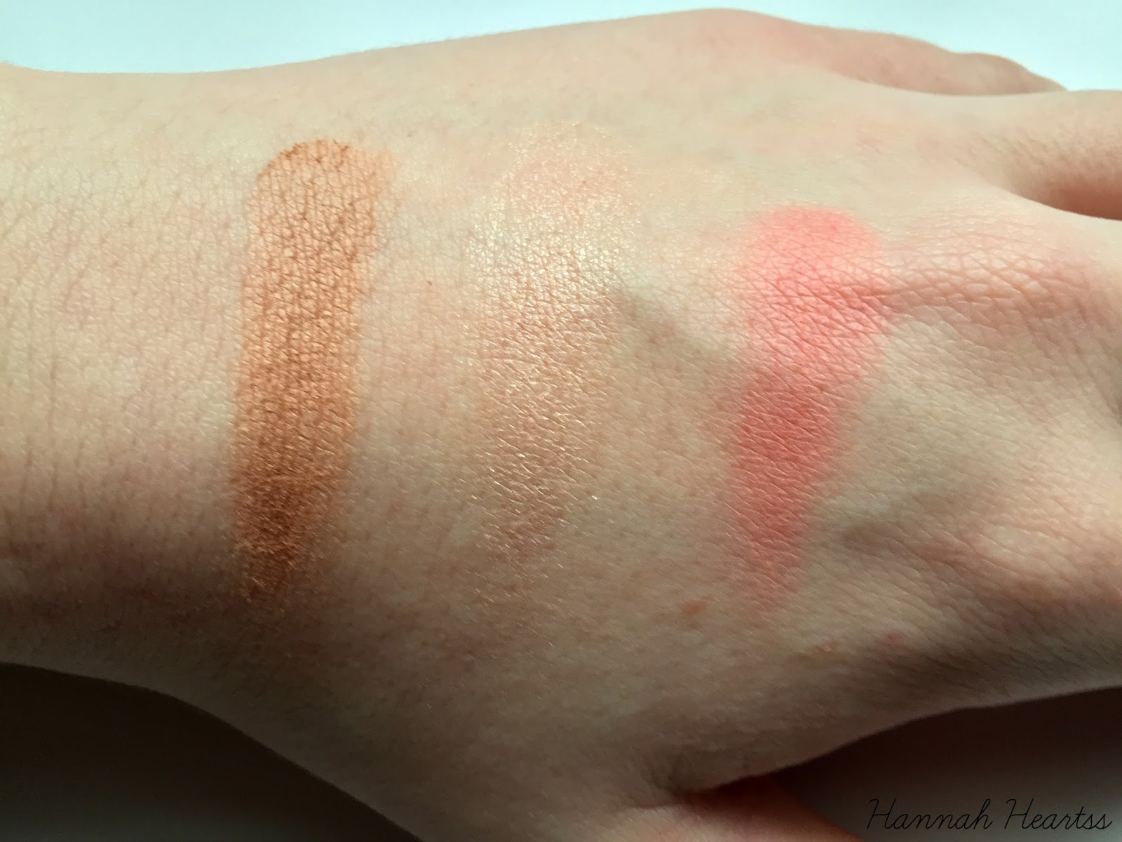 Makeup Revolution Iconic Blush, Bronze and Brighten Palette Swatches