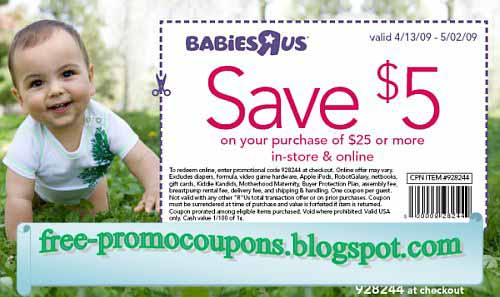 Coupon code babies r us canada