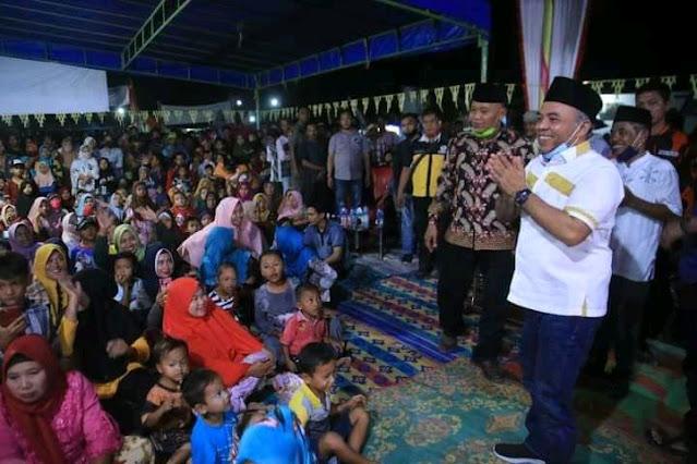 Hadiri Kegiatan Bersih Desa, Bupati Labuhanbatu Apresiasi Warga Desa Sei Jawi-Jawi