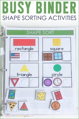 Shape Sorting Busy Binder