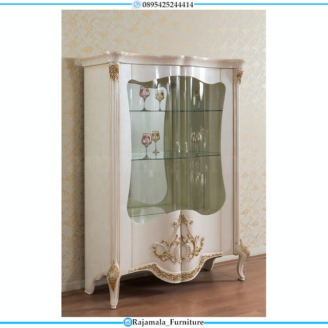 Best Sale Model Lemari Pajangan Mewah Classic Luxury Furniture Jepara RM-0480