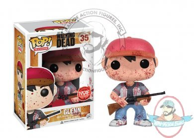 Man of Action Figures Exclusive The Walking Dead Blood Splattered Glenn Pop! Vinyl Figure by Funko