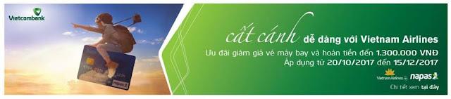 Giảm ngay 15% và hoàn tiền tới 1.300.000 VNĐ khi mua vé máy bay Vietnam Airlines