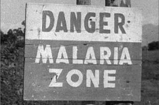 Cartel avisando de la peligrosidad del Agro Pontino (1944-45)