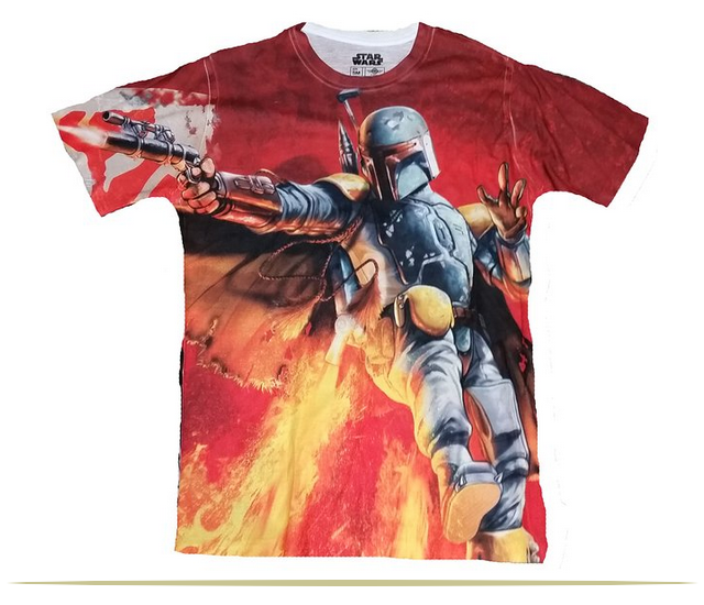 Star Wars Boba Fett Bounty Hunter All Over Licensed Graphic T-Shirt  |  www.9CoolThings.com