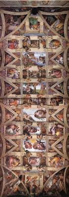 capela%2Bsistina genesis - Dez Curiosidades sobre o teto da Capela Sistina
