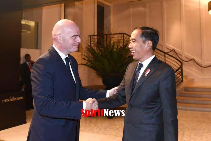 Presiden RI Bertemu Presiden FIFA Terkait Indonesia Tuan Rumah Piala Dunia U-20 Tahun 2021