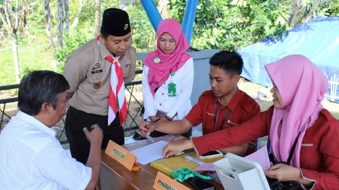 Komitmen Berikan Pelayanan Prima, Puskesmas Biji Nangka Gelar Pemeriksaan Gratis di Lokasi Perkemahan