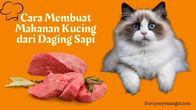 Cara Membuat Makanan Kucing dari Daging Sapi yang Mudah