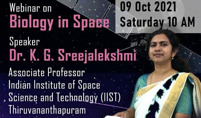 Webinar on Biology in Space