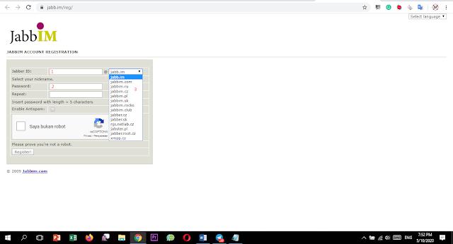Cara Membuat dan ID Jabber ( XMPP) Untuk Transkasi Host to Host Server Pulsa
