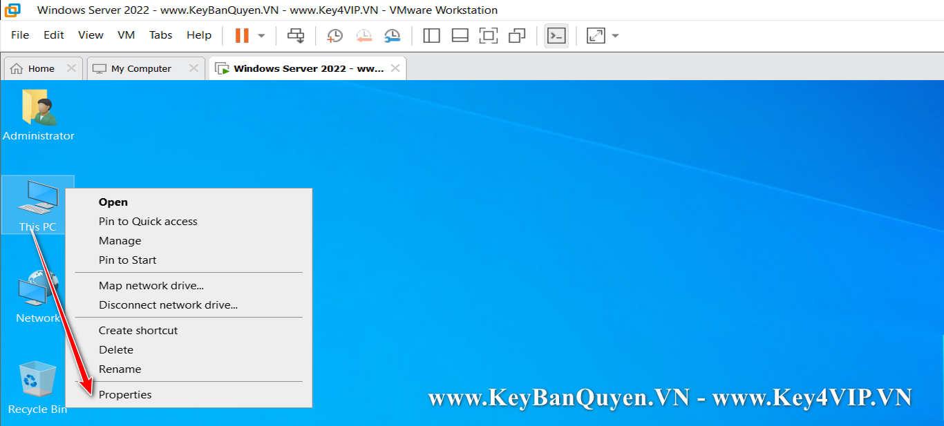 Hướng dẫn Active Key bản quyền Windows Server 2022 Standard và Datacenter .