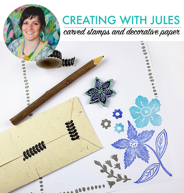 creating with Jules: carved stamps