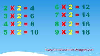 perkalian dikali  angka 2