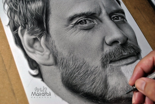 12-Michael-Fassbender-Maíra-Poli-Mahbopoli-Black-and-White-Realistic-Pencil-Celebrity-Portraits-Drawings-www-designstack-co