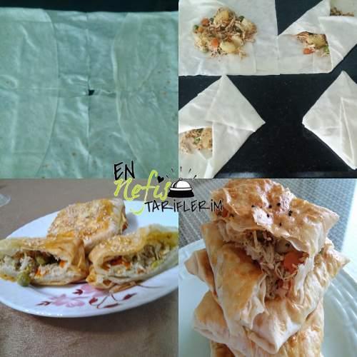Tavuklu Bohça Böreği Nasıl Yapılır