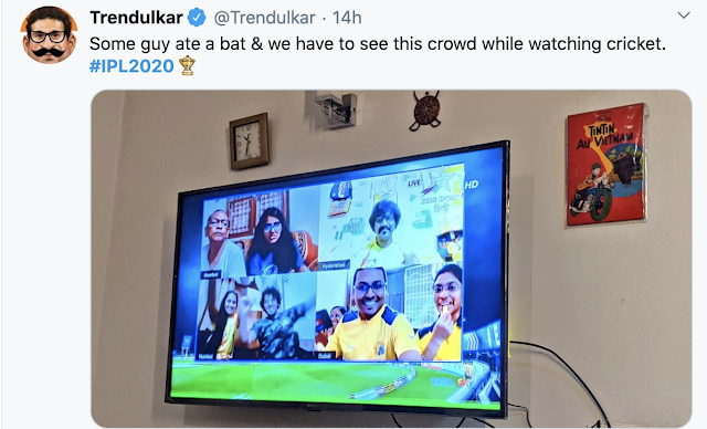 Funny audience in ipl2020