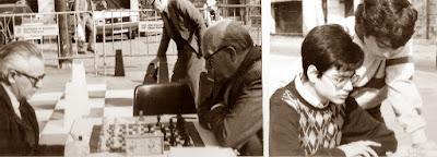 Los ajedrecistas Martorell, Boguñá y Ribera Romero y Daniel Travesset