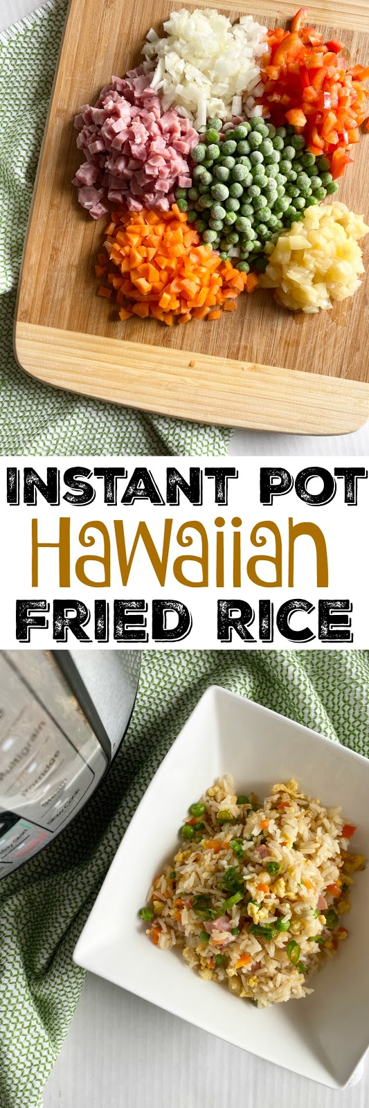Instant Pot Hawaiian Fried Rice #instantpot #iowaegg #ad