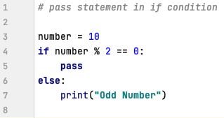 pass statement in if condition - Python