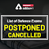 List of Defence Exams Postponed/Cancelled