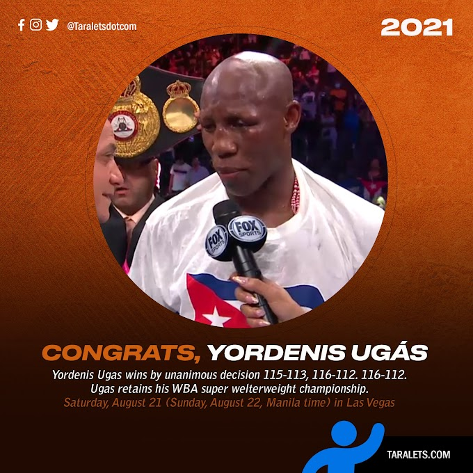 From undercard to main event champion, Yordenis Ugas