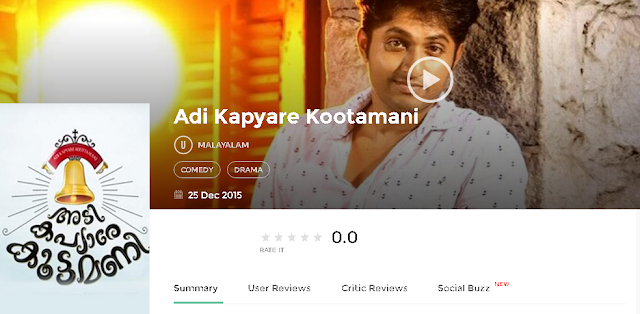 Adi Kapyare Kootamani 2015 Malayalam Full Movie 700Mb HD