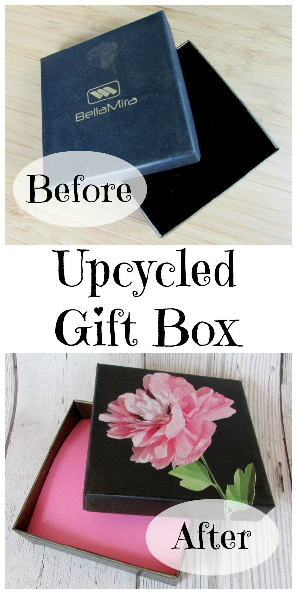 easy floral upcycled gift box